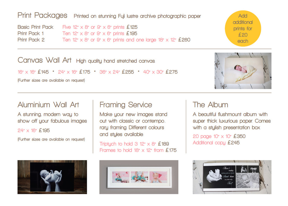 Paula Beaumont Photography prices
