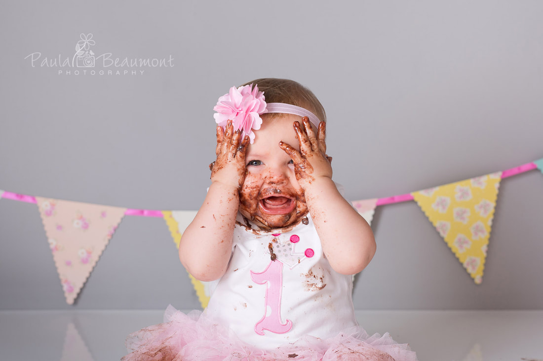 Cake smash photography Harrogate